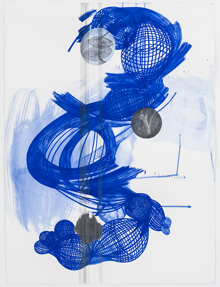 MD411-12Blue_2012_gouache_watercolor_graphite_silver leaf on paper_30.75x 22.15 inches